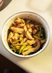 プリプリゆで鶏ときゅうりの中華風★常備菜