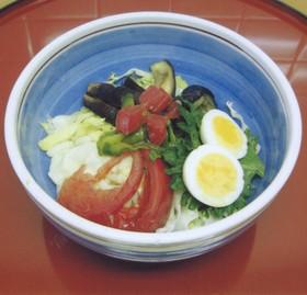 【京都丹波】夏野菜いっぱい♪サラダうどん