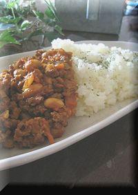 大豆といろんな野菜のドライカレー
