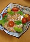 オリーブとプチトマトの液体塩こうじ納豆腐