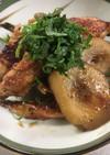 太牛蒡と鶏手羽中の甘辛煮