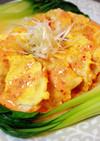簡単♡鶏胸ピカタのピリ辛キムチクリーム煮