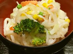 お一人様☆彩り野菜と豚バラの蒸しうどん