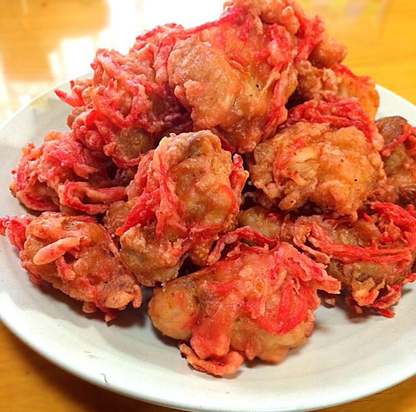紅カラ!鶏の紅生姜唐揚げ(ザンギ)