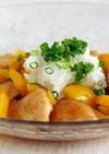 夏野菜と鶏ささみのみぞれ和え