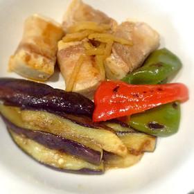節約 カサ増し 生姜風味の肉巻き木綿豆腐