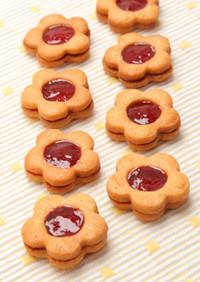 苺ジャムサンドクッキー