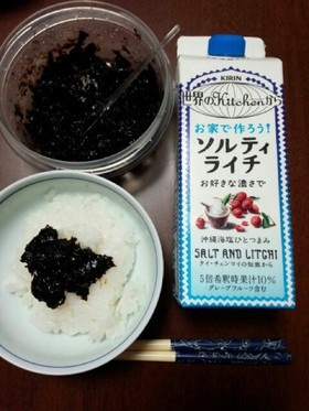 ソルティライチ★電子レンジで海苔の佃煮