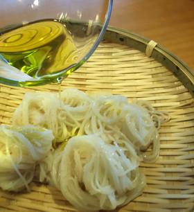 塩とオリーブオイルだけ☆超シンプルな素麺
