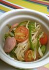 もやしの夏野菜炒め