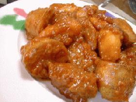 揚げ鶏とじゃが芋のコチュジャン煮