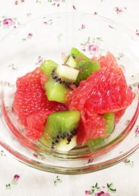 キュウイとグレープフルーツの砂糖漬け