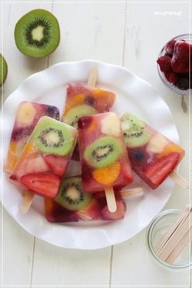 ヘルシー♡フルーツアイスキャンディーバー