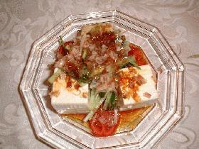 お豆腐の中華サラダ