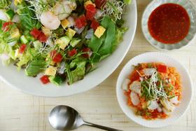 野菜盛りだくさん♪韓国風海鮮ビビンバ