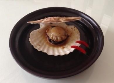レンジで簡単!殻付き帆立貝のバター醤油