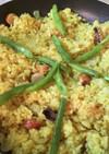 調味料で簡単‼フライパンでカレーパエリア