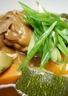 ズッキーニと豚足の中華スープ煮