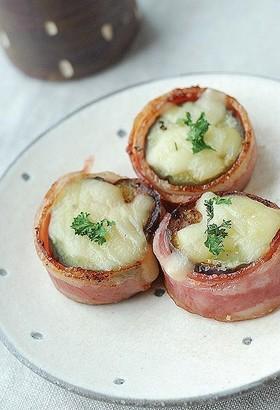 お弁当に♡茄子のベーコン巻き♡チーズのせ