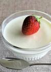 ノンカロリー寒天と牛乳でミルク寒天