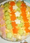 特別な日に可愛く、簡単にケーキ押し寿司!