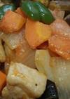 ゴロゴロ野菜と豚のポークチャップ