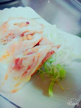 梅納豆の詰め焼き竹輪(˙◁˙)