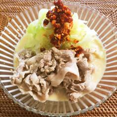 夏にぴったり!麺つゆと豆乳のピリ辛素麺