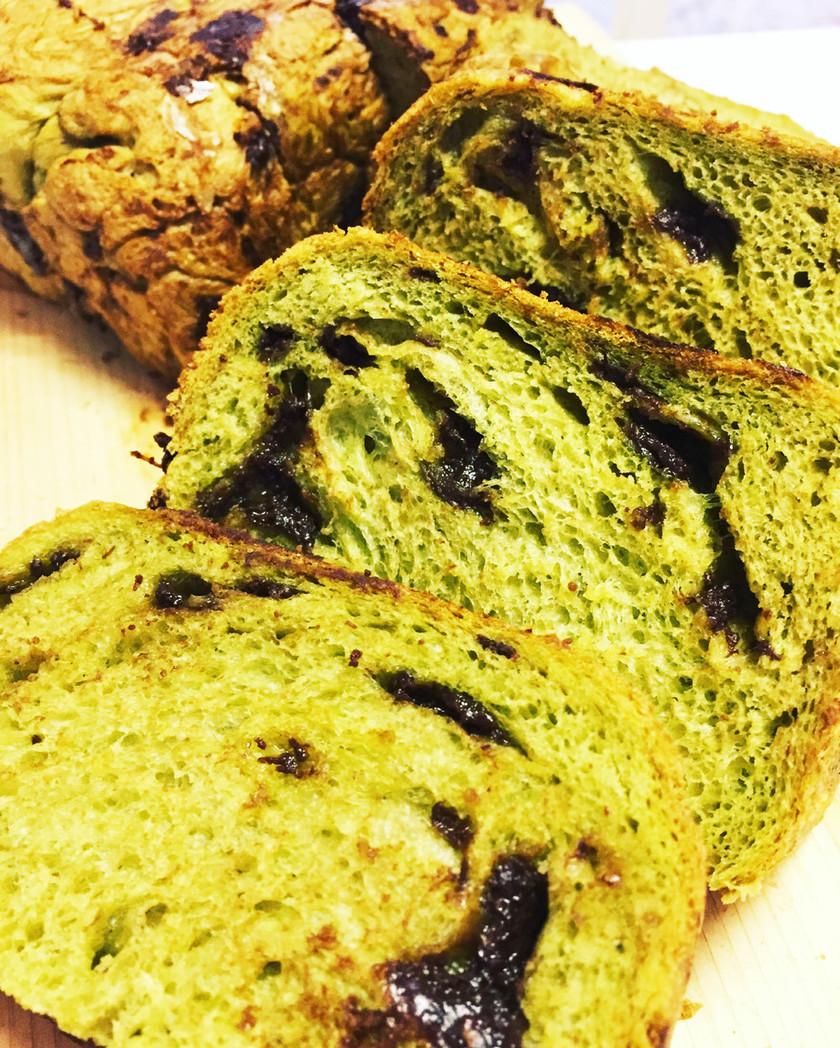 ホームベーカリーで抹茶チョコ食パン☆