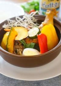 彩り夏野菜の本格スープカレートマト風味