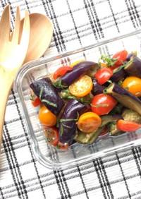 作り置き、ナスとトマトのアンチョビマリネ