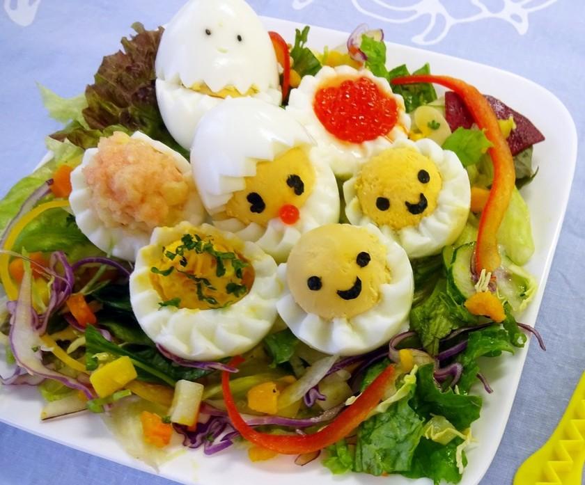【花卵コロン】ゆでたまご花&ひよこサラダ