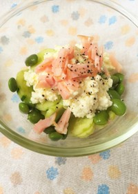 カッテージチーズっぽい豆腐サラダ