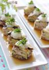 レンジで簡単♫豚肉と茄子のミルフィーユ風