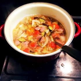 夏バテ予防♡お野菜もりもり生姜スープ♡