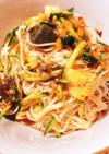 カクテキ キムチの残り 素麺 ビビン冷麺
