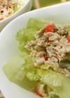 簡単!ツナ&カニカマのレタスサラダ