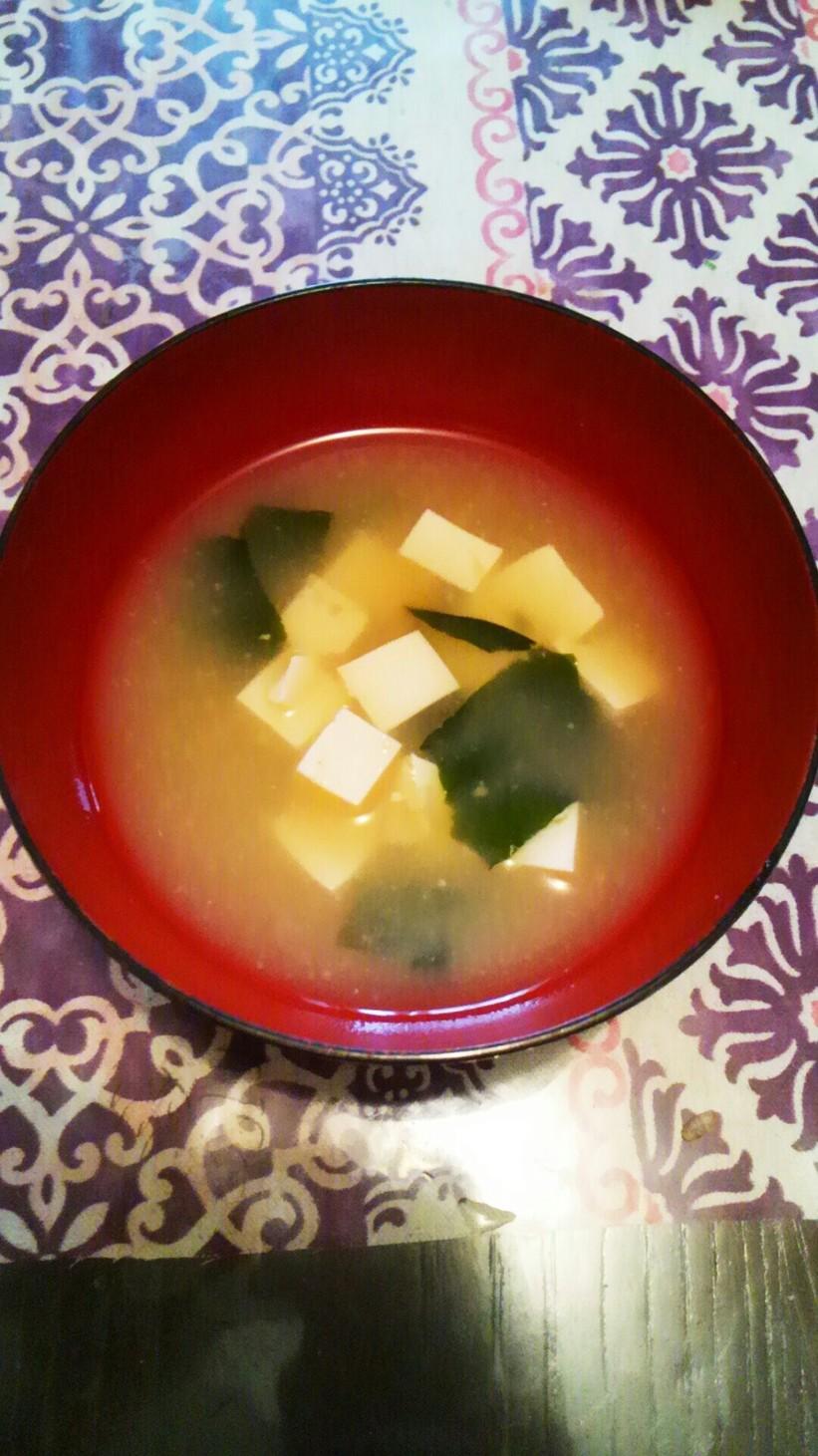 そば湯で味噌汁