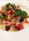 トマト・ナス・ツナのカッペリーニ風素麺