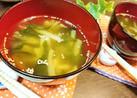 節約【ブロッコリーの茎とワカメの味噌汁】