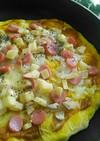 フライパンで簡単美味スパイシーカレーピザ