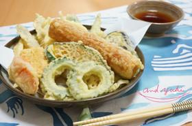 健康運を高める☆ちくわと野菜の大暑天ぷら