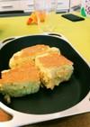 スペースパンで分厚いふわふわパンケーキ