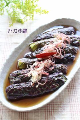 レンジで簡単&綺麗な紫色♫茄子の煮浸し