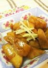 刺身のブツ切りでびんちょうマグロの角煮