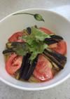 茄子とトマトの冷やし素麺
