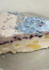 ラムネパインブルーベリーのアイスケーキ♪