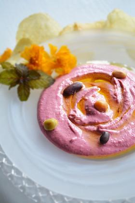 5種の豆とビーツのフムス 3分レシピ