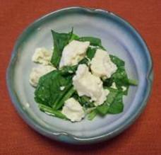 【農山漁村の宝】ほうれん草の塩麹豆腐和え