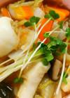 簡単♪白菜とイカの中華餡掛け~中華丼風~